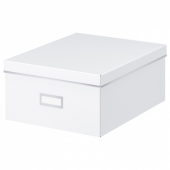 СМОРАССЕЛЬ Коробка с крышкой,белый